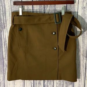 Anthro Cartonnier Drab Brown Trench Military Skirt